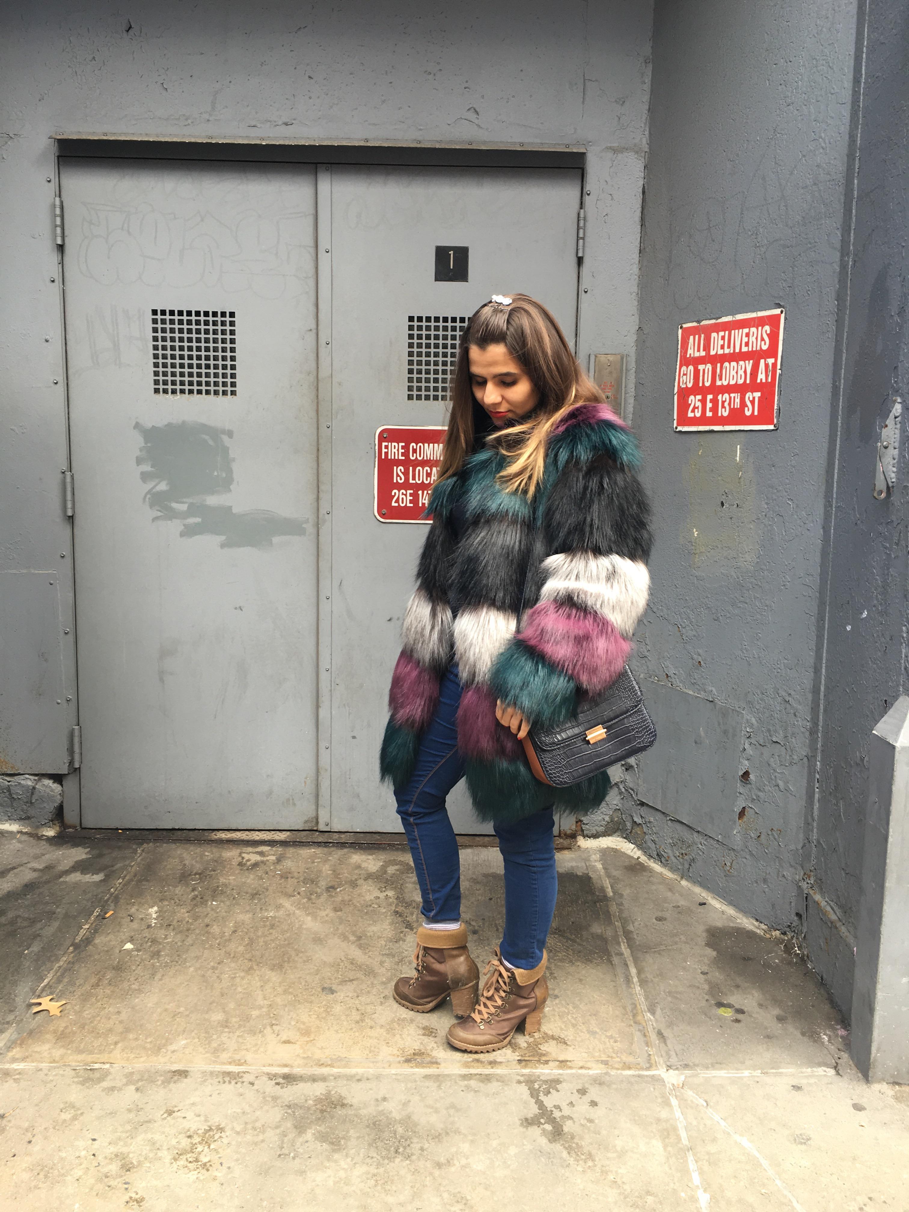 color fur coats