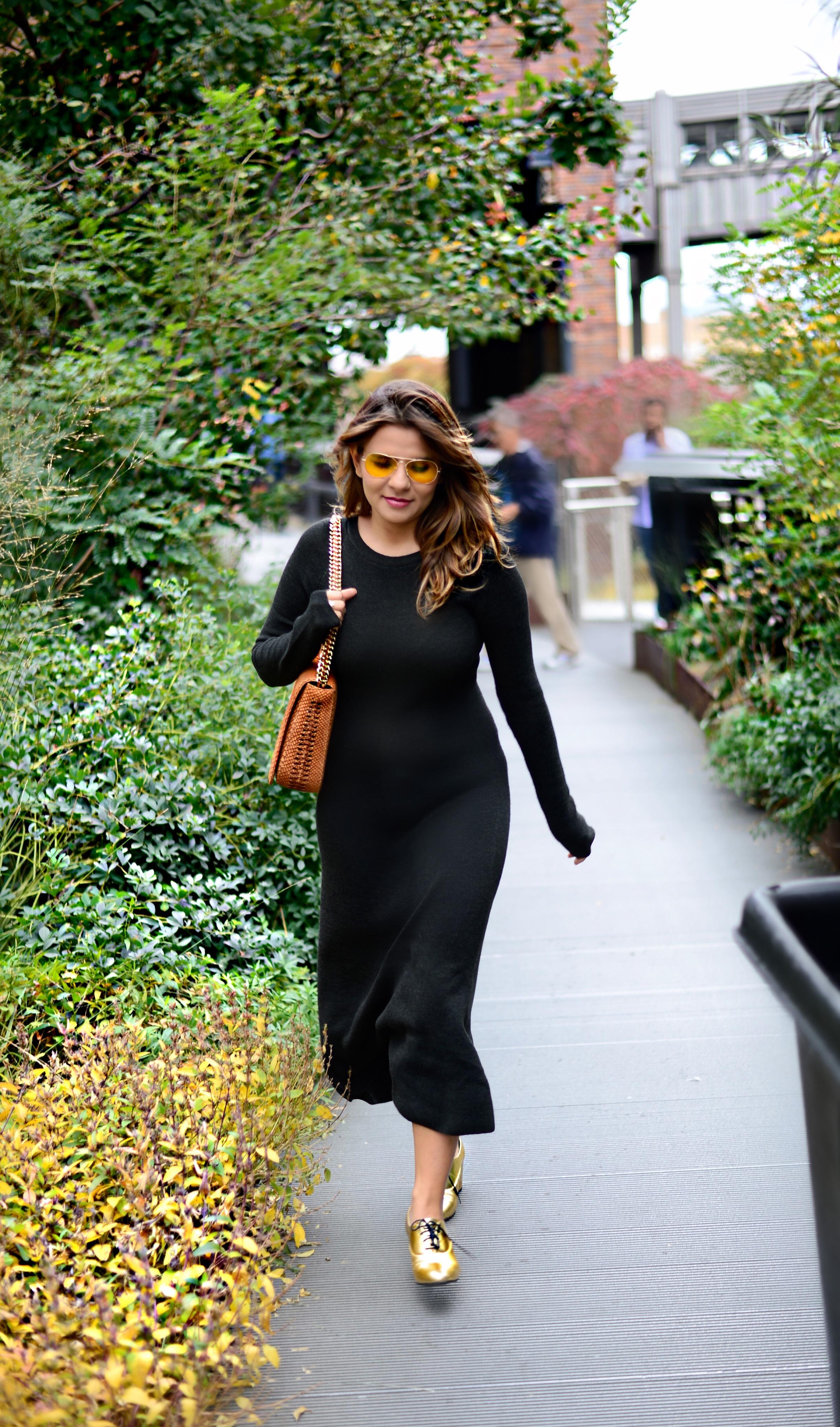 jersey-dress-gold-shoes-alley-girl-betul-yildiz-new-york-fashion-blogger-14