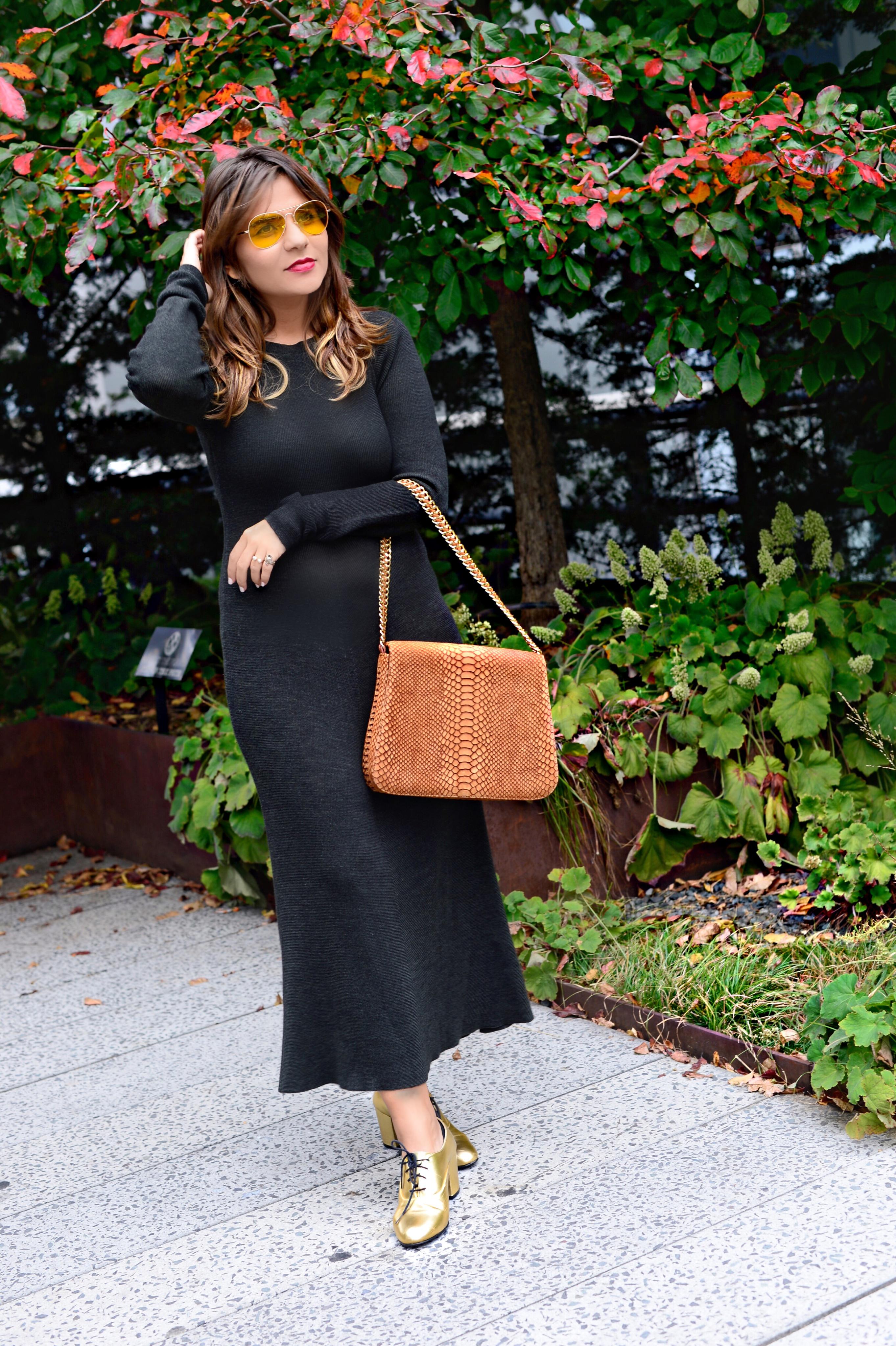 jersey-dress-gold-shoes-alley-girl-betul-yildiz-new-york-fashion-blogger