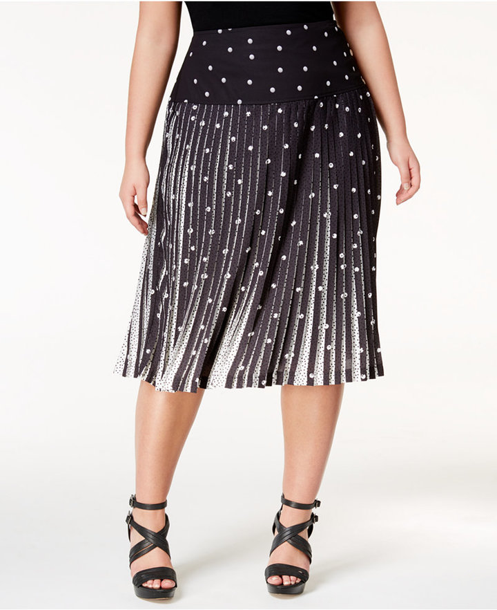 polka-dot-plus-size-pleated-skirt-alley-girl