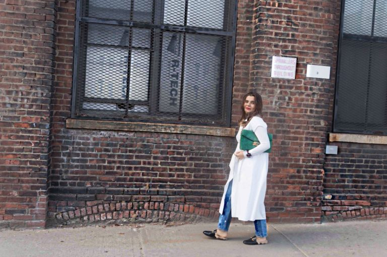 oversized-dress-shirt-gucci-loafers-oversized-clutch-alley-girl-5